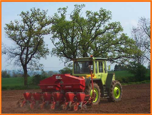 Ploughing and seed drilling