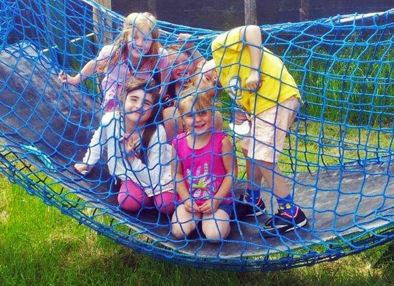 A photo of children enjoying the Activities Maze