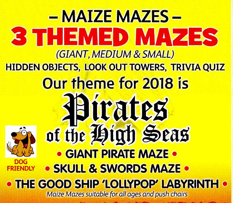 The 2018 Mazes theme at Elton is Pirates of the High Seas