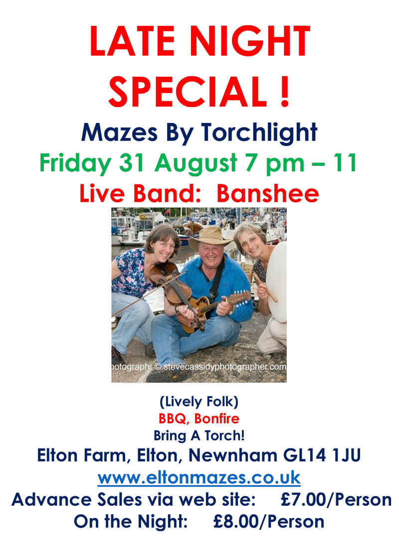 A poster for Late the 2018 Night Special with LIVE band Banshee