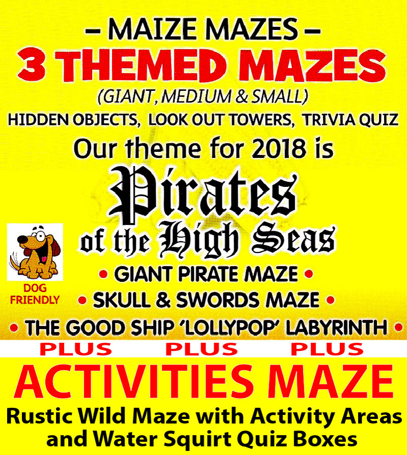 An image showing an Ad. for Elton Maize Mazes and Activities Maze