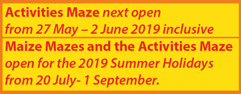 AN image showing Elton Giant Mazes 2019 opening dates